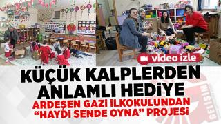 Ardeşen Gazi Mustafa ilk okulunun düzenlediği ''Haydi Sende Oyna'' Proje kapsamında oyuncağı olmayan çocuk ve çocuklara toplanan oyuncakları gönderiyorlar