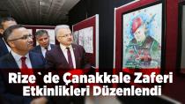 Rize`de Çanakkale Zaferi Etkinlikleri Düzenlendi