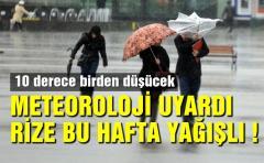 METEOROLOJİ UYARDI RİZE BU HAFTA YAĞIŞLI !