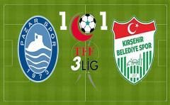 Pazarspor Lider Kırşehir İle Puanları Paylaştı