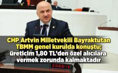 CHP Artvin milletvekili Bayraktutan TBMM genel kurulda çay fiyatı ile ilgili konuştu