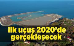 Rize-Artvin havalimanı deniz dolgununa devam ediliyor