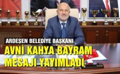 Başkan KAHYA'dan Kurban Bayramı Mesajı
