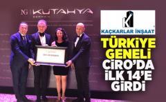 Kaçkarlar İnşaat Ciro'da Türkiye 14.sü Oldu