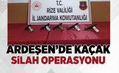 Ardeşen'de Kaçak silah operasyonu