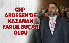 CHP ARDEŞEN'DE KAZANAN FARUK BUÇAN OLDU