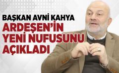 ARDEŞEN'İN YENİ NUFUSU BELLİ OLDU