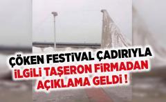 Ardeşen'de Festival Çadırının çökmesiyle ilgili taşeron firmadan açıklama geldi
