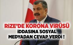 RiZE'DE KORONA ViRÜSÜ iDDASINA SOSYAL MEDYADAN CEVAP VERDi !