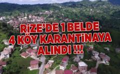 Rize'de 1 Belde ve 4 Köydeki Karantina Alındı
