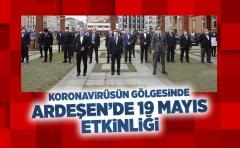 19 Mayıs Kutlama Etkinlikleri Kapsamında Kaymakamlık Önünde Çelenk Sunumu Yapıldı