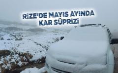 Rize'de Mayıs ayında Kar süprizi