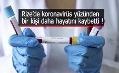 Rize'de Koronavirüsten 13. Ölüm