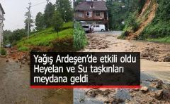 Yağış,Ardeşen'de etkili oldu !