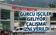 Gürcistan'dan vatandaşlarına Türkiye'de çalışma izni