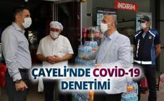 ÇAYELİ'NDE COVİD-19 DENETİMİ