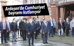 Ardeşen'de Cumhuriyet Bayramı kutlanıyor