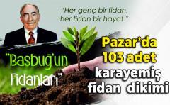 Naci Atabey Parkında Merhum Alpaslan Türkeş adına Şehitleri için karayemiş Fidanı Dikildi