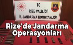 Rize'de Jandarma Operasyonları