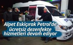 Alpet Eskiçırak Petrol'de ücretsiz dezenfekte hizmetleri devam ediyor