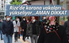 Rize'de Koronavirüs vakaları yükseliyor !