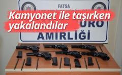 Rize'den Giden Kamyonette 6 Adet Kaçak Silah Ele Geçirildi