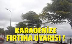 Karadenize Fırtına uyarısı geldi !