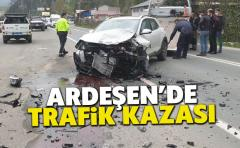 Ardeşen'de Trafik Kazası !