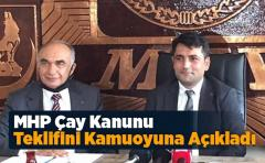 MHP Çay Kanunu Teklifini Kamuoyuna Açıkladı
