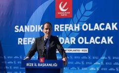 Yeniden Refah Partisi Genel Başkanı Fatih Erbakan Rize'de İktidara Yüklendi